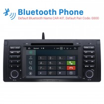 Pure Android 9.0 Autoradio GPS Car A/V system for 2000-2007 BMW X5 E53 3.0i 3.0d 4.4i 4.6is 4.8is 1994-2001 BMW 7-serie E38 with DVD Radio RDS Bluetooth Mirror Link OBD2 WiFi Steering Wheel Control