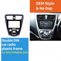 BLACK In Dash Fascia Panel Trim Frame Installation Kit For 9 inch 2015 PERODUA AXIA OEM Style