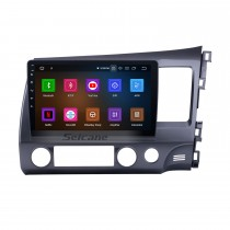 10.1 inch 2006-2011 Honda Civic RHD Android 9.0 CD Radio Car Stereo GPS System with 3G WiFi Bluetooth Music Rearview Camera Mirror Link OBD2 Steering Wheel Control HD 1080P Video