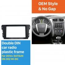 2 DIN Car Radio Fascia for 2014-2019 DATSUN ON-DO/ MI-DO Stereo Dash Cover Trim installation Frame Panel Kit