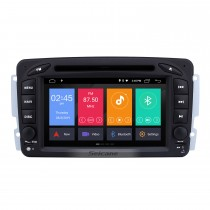 Android 9.0 7 Inch Touchscreen Car DVD Player for 2004-2011 Mercedes-Benz CLK W209 Bluetooth GPS Navigayion Radio with WIFI Steering Wheel Control