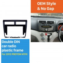 Black Frame for 10.1 inch 2012 PROTON MYVI Audio Dash Trim Fascia Panel Kit