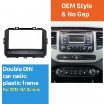 Black Double Din 2013 KIA CARENS Car Radio Fascia Trim Install Frame Audio Cover Panel kit