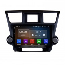 10.1 inch Pure Android 9.0 2008-2014 Toyota Highlander Radio Removal with Sat Nav Car Audio System 1024*600 Multi-touch Capacitive Screen Mirror Link OBD2 3G WiFi AUX
