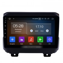 2018 Jeep Wrangler Rubicon Android 9.0 GPS Navigation 9 inch 1024*600 Touchscreen Head unit Bluetooth Radio FM RDS music WIFI support 4G Carplay USB Steering Wheel Control