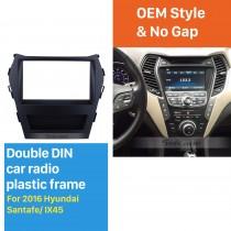 2 Double DIN In Dash Car Stereo Radio Fascia Panel Trim Frame Installation Kit For 2016 Hyundai Santafe IX45 OEM Style No Gap
