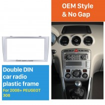 Classic 2 Din Car Radio Fascia for 2008+ PEUGEOT 308 Auto Stereo Interface Panel Car Styling Frame In Dash Mount Kit