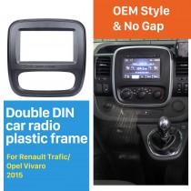 2 Din car radio Fascia for 2015 Up Renault Trafic Opel Vivaro DVD Panel Dash Kit auto stereo installation Frame Dashboard Panel