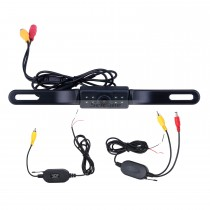 Seicane Wireless Rearview Camera for aftermarket car radio with 8 LED Lights
