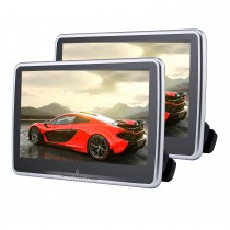 Newest Android 6.0 Quad-core headrest MP5 Player with 10.1-inch Free Tilt HD 1024 * 600 Digital TFT LED Touch Screen FM Transmitter IR Transmitter USB SD Bluetooth WIFI (1 pair)