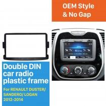 Classic 2 Din car radio Fascia for 2012-2014 RENAULT DUSTER SANDERO LOGAN Auto Stereo Interface Panel Dash Trim Kit DVD Frame