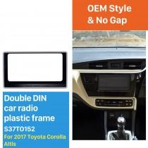 202*102mm Double Din 2017 Toyota Altis Car Radio Fascia Dash Mount Kit CD Trim Installation Frame Panel