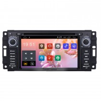 In Dash 2007-2013 Jeep Wrangler Unlimited 7 inch Radio Upgrade with Android 8.1 DVD Player Bluetooth GPS Navigation Car Audio System  Touch Screen WiFi 3G Mirror Link OBD2 Backup Camera DVR AUX