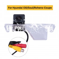 LED Rearview Camera For Hyundai I30/Soul/Rohens-Coupe(black)Support Waterproof and Night Vision with easy installation+PAL/NTSC+1/4 inch color CMOS/CCD