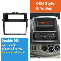 Black Double Din Nissan Primastar Car Radio Fascia Fitting Kit Installation Frame Panel DVD Stereo Player