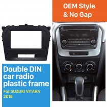 Black Double Din 2015 Suzuki Vitara Car Radio Fascia Dash Kit Surround Panel Decorative Frame Face Plate