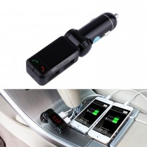 Adjustable Dual USB Ports Car Stereo Music Handsfree Bluetooth Receiver with 3.5mm Audio Input Support FM Full-Frequency Launch Digital Display