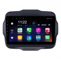 2016 Jeep Renegade 9 inch Touchscreen Android 8.1 Radio GPS Navigation system with USB Bluetooth WIFI 1080P Aux Mirror Link Steering wheel control