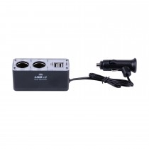 Twin Sockets Car Cigarette Lighter Dual USB Auto Splitter Charger Adapter For Mobile Phone Ipad