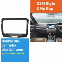 Car Radio Fascia Panel Install Dash Bezel Trim Mount Kit For 9 inch 2015 FORD RANGER OEM style