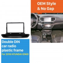 2 DIN OEM style Plactic Car Radio Frame  Fascia for 2016 HYUNDAI IONIO Dashboard Panel Trim Bezel 178*102mm