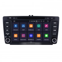 8 inch Android 9.0 Radio for 2013 2014 Skoda Octiva with DVD GPS Bluetooth HD 1024*600 Touch Screen OBD2 DVR 1080P 3G WIFI Steering Wheel Control Rearview Camera