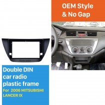 Double Din 9 inch 2006 MITSUBISHI LANCER IX Car Radio Fascia Frame Dash Mount Kit Trim Panel