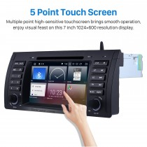 Aftermarket Radio Android 9.0 DVD Player For 2000 2001 2002 2003 2004 2005 2006 2007 BMW X5 E53 3.0i 3.0d 4.4i 4.6is 4.8is GPS Navigation system with HD 1024*600 Multi-touch Screen 3G WiFi Bluetooth Phone Mirror Link Auto A/V DAB+