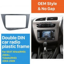 2 Din Fascia for 2005-2011 Seat Leon right hand driving Car Radio Head Unit GPS Navigation plate panel Frame