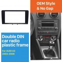 Black Double Din 2003-2008 Audi A3 Car Radio Fascia Autostereo Panel Kit Audio Frame Trim Installation