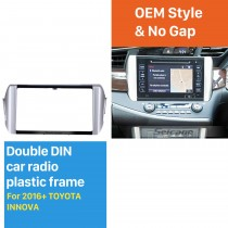 2 Double DIN In Dash Car Stereo Radio Fascia Panel Install Dash Bezel Trim Kit Cover Trim Frame For 2016 2017 2018 TOYOTA INNOVA No Gap