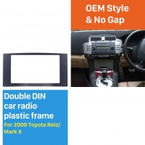 2 Din 2009 Toyota Reiz Mark X Car Radio Fascia DVD panel Frame Dash Kit Audio Cover Trim Installation Kit