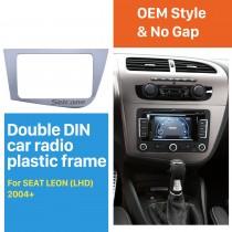 2 Din Fascia for 2005-2011 Seat Leon left hand driving Car Radio Head Unit GPS Navigation plate panel Frame