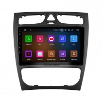 OEM Android 10.0 For BENZ C CLASS (W203) 2002-2004 BENZ CLK-CLASS (W209) 2002-2006 Radio with Bluetooth 9 inch HD Touchscreen GPS Navigation System Carplay support DSP