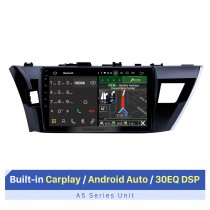 10.1 inch Android 10.0 For 2013 2014 Toyota Corolla LHD Radio Aftermarket Navigation System 3G WiFi OBD2 Bluetooth Music Backup Camera Steering Wheel Control HD 1080P Video