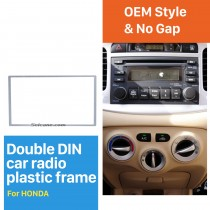 2 Din 178*102mm Silver Universal Car Radio Fascia for HONDA FIT Jazz automobile DVD panel Trim Install Frame Stereo Interface
