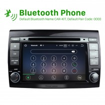 Pure Android 7.1 Radio GPS Navigation System for 2007-2012 Fiat Bravo with 3G WiFi DVD Bluetooth Mirror Link OBD2 HD 1080P Video Auto A/V AUX MP3 Rearview Camera