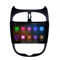 For 2000-2016 PEUGEOT 206 Android 11.0 9 inch Touchscreen Head unit GPS Navi Radio SWC Bluetooth FM Mirror Link Wifi Carplay USB Backup Rearview support DVD Player
