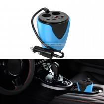 Multi-Function Dual Cigarette Lighter Cup-type Car Charger with Dual USB Ports HD Digital Display Overcharging Protection