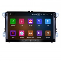 9 inch Android 10.0 Aftermarket OEM Autoradio GPS Navigation Stereo for 2003-2011 VW Volkswagen Scirocco Golf Polo Passat Jetta Tiguan Touran Sharan Sagita Caddy Cupra Seat Toledo Leon Alhambra with HD 1024*600 Touch Screen OBD2 Mirror Radio DVD Player
