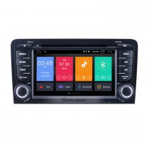 7 inch Android 10.0 for 2003 2004 2005-2011 Audi A3 Radio GPS Navigation System with Mirror Link OBD2 3G WiFi Bluetooth DVD HD Multi-touch Screen Auto A/V HD 1080P Video