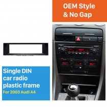 Black 1Din 2003 Audi A4 Car Radio Fascia Fitting Kit Installation Frame CD Trim Panel Stereo Interface
