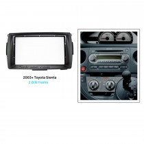 Best Double 2 Din 2003+ Toyota Sienta Car Radio Fascia Stereo Dash Kit Trim Installation Audio Player Frame