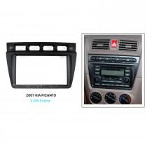 Black Double Din 2004 2005 2006 2007 2008 KIA PICANTO Car Radio Fascia Autostereo Adapter CD Trim Installation Panel Frame