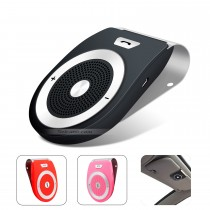 Wireless Built-in Speaker Microphone Sun Visor Bluetooth Handsfree Car Kit Support Two Phone Connection DSP Noise Reduction