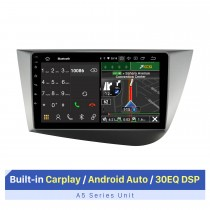 9 Inch HD Touchscreen for 2005-2012 Seat LEON LHD Head Unit Car GPS Navigation Stereo Carplay Support Multiple OSD Languages