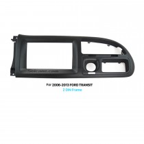 Black Double Din Car Radio Fascia for 2006-2013 Ford Transit Audio Player Dash Frame CD Trim Panel