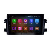 9 inch Android 10.0 Radio GPS navigation system for 2007-2015 Suzuki SX4 Fiat Sedici with Bluetooth Mirror link HD 1024*600 touch screen DVD player OBD2 DVR Rearview camera TV 4G WIFI Steering Wheel Control 1080P Video USB