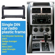 Car Radio Fascia for 2007 Chrysler Serbring Dodge Avenger Nitro Jeep Wrangler Vehicle-mounted Face Plate Install Frame Trim Bezel Kit
