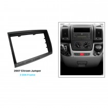 Black Double Din 2007 Citroen Jumper Car Radio Fascia Dashboard CD Install Frame Trim Kit DVD Player